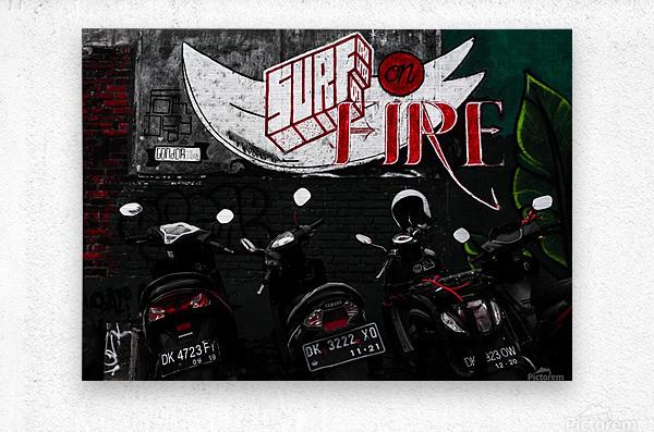 Surf Fire  Metal print