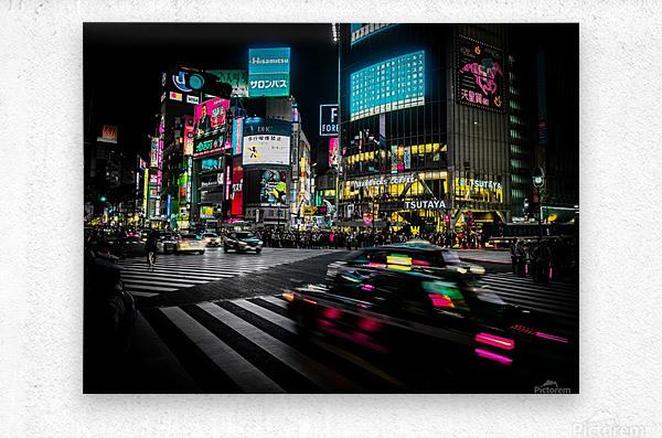 Shibuya Shuffle  Metal print