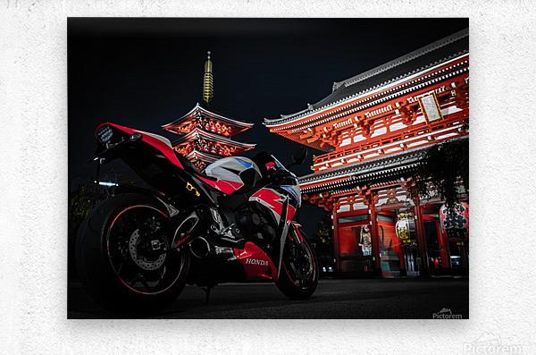 Honda At The Temple  Metal print