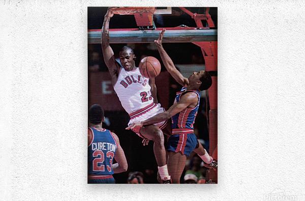 1985 Rising Star Michael Jordan Print   Metal print