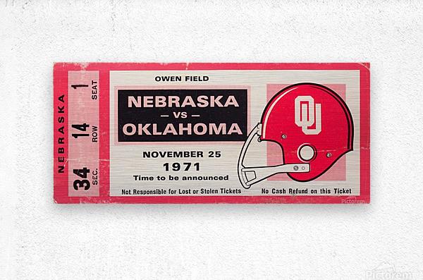 1971 Game of the Century Nebraska vs. Oklahoma  Metal print