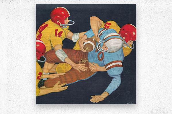 Classic Vintage Football Art   Metal print