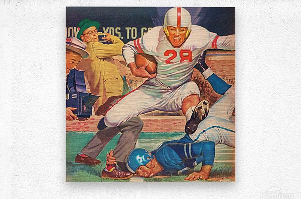Vintage Football Art  Metal print