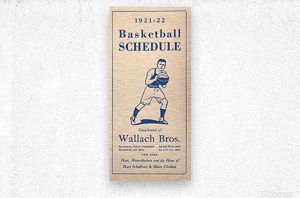 1921 Basketball  Metal print