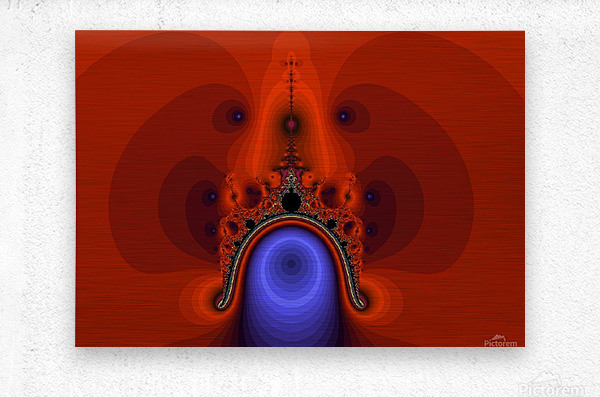 Fractal Pattern 12  Metal print