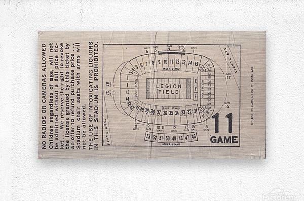 1981 Legion Field Map  Metal print