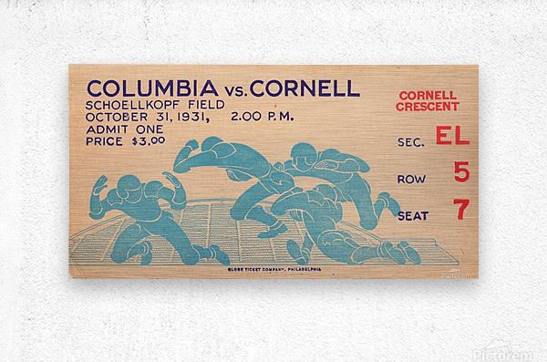 1931 Cornell vs. Columbia  Metal print