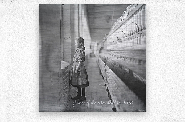 glimpse of the outer world in 1908  Metal print