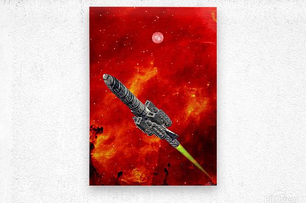 Journey to explore Mars  Metal print