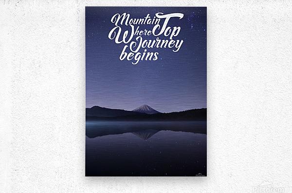 Mountain Top Journey  Metal print