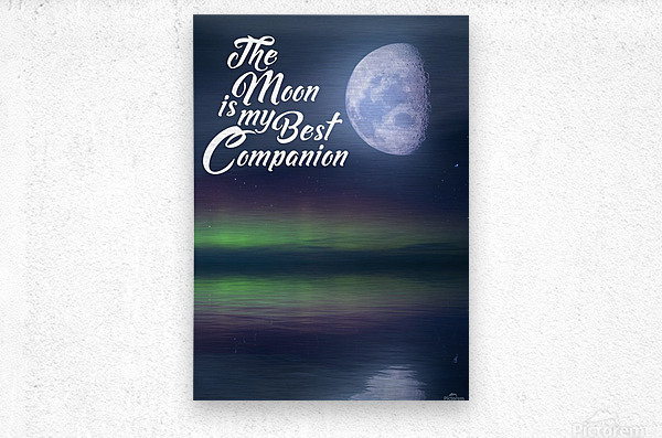 The Moon is my Best Companion  Metal print