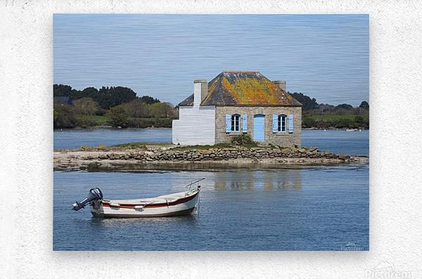 house saint Cado Bretagne  Metal print