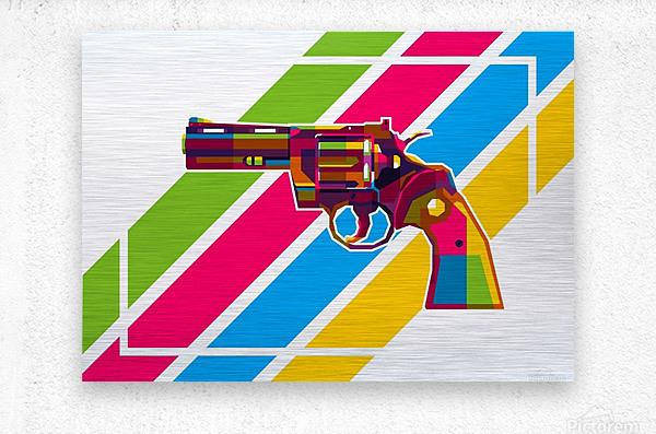 Python Handgun  Metal print