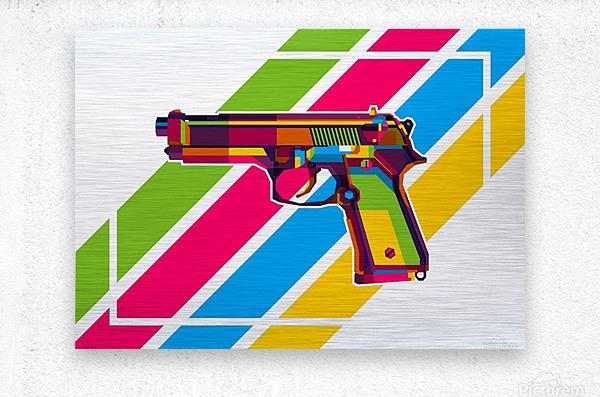 Classic Handgun  Metal print