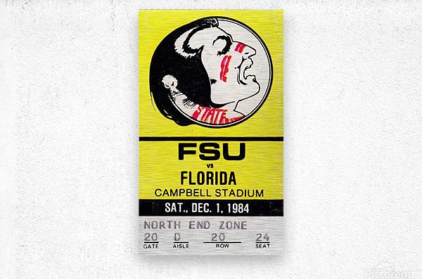1984 FSU vs. Florida  Metal print