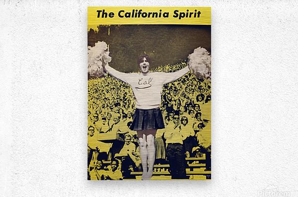 1965 California Cheerleader Photograph_Vintage College Cheerleading Uniform Photo  Metal print