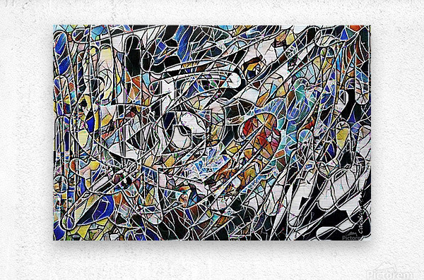 Color Art Abstract Pattern  Metal print