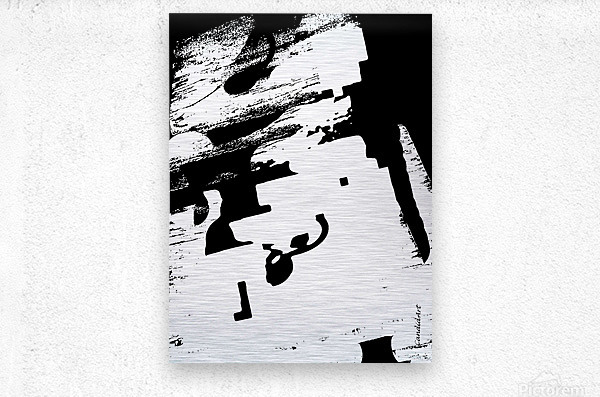Black & White Form Texture Art D3200 1267  Metal print