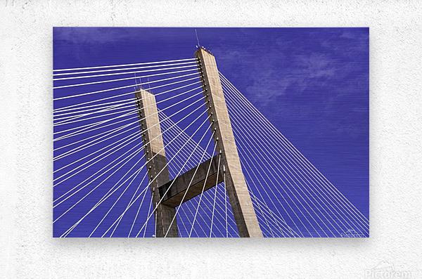 Talmadge Memorial Bridge   Savannah 04212  Metal print