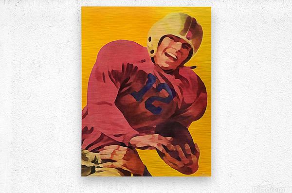 Vintage Football Poster_Football Prints Wall Art Posters  Metal print