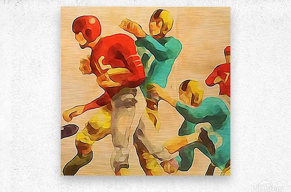 Vintage Football Jersey Art Print  Metal print