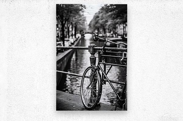 Amsterdam in a raining day  Metal print