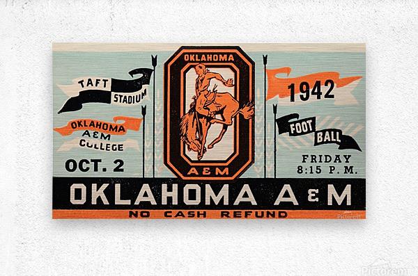 Vintage Oklahoma A&M Art  Metal print
