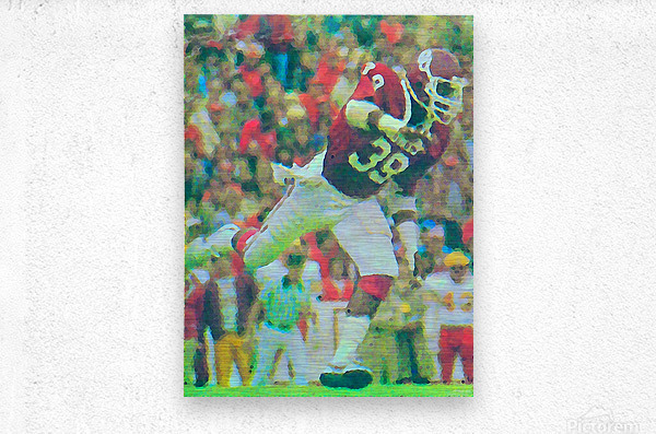 All American Kevin Murphy 39 Defensive End Oklahoma Football Art_OU Sooners Wall Art  Metal print