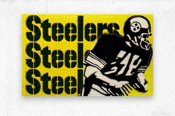 Vintage Pittsburgh Steelers Football Art Reproduction  Metal print
