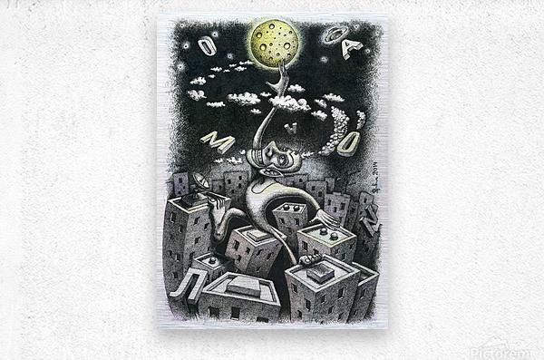 Somnambulist  Metal print