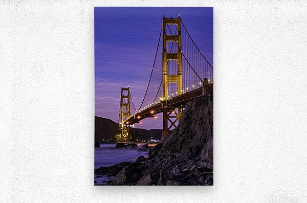 Golden Gate Blue Hour  Metal print