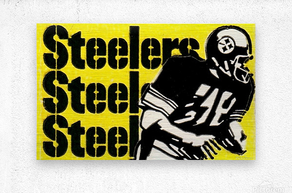 Row One Brand Vintage Pittsburgh Steelers Football Art Print Art Reproduction (1974)  Metal print