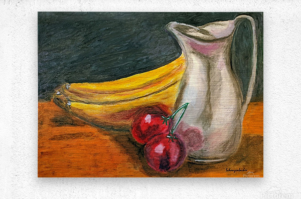 Fruit for Lunch  Metal print