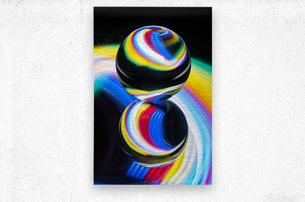 Lens ball  Metal print