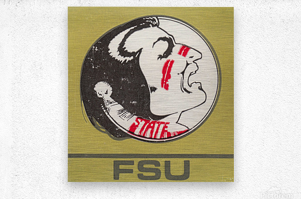 Vintage FSU Florida State University Seminoles Art_Ticket Stub Art Reproduction Print  Metal print