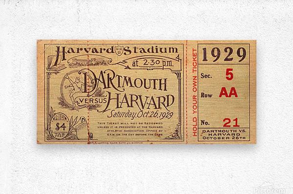 1929 Dartmouth vs. Harvard  Metal print