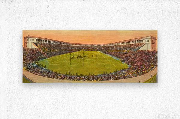 Vintage Football Stadium Art (1919)  Metal print