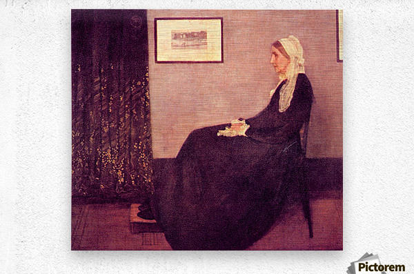 Whistlers Mother by James Abbot McNeill Whistler  Metal print