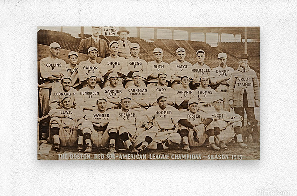 1915 Boston Red Sox Team Photo  Metal print
