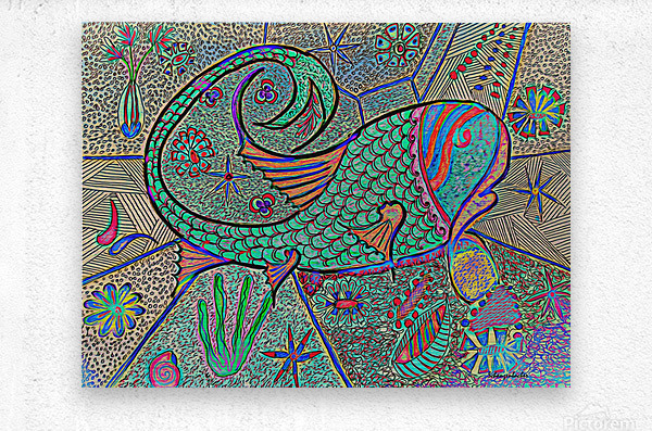 Crazy Fish  Metal print