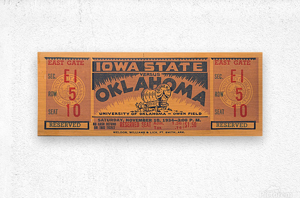 1934 Iowa State vs. Oklahoma  Metal print