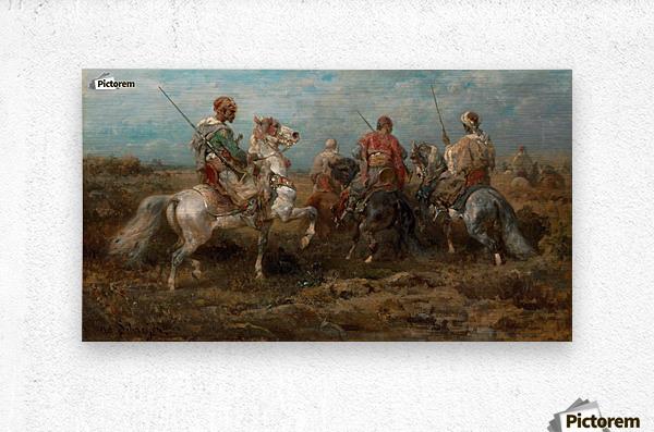 Arabische Reiter  Metal print