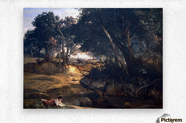 Forest of Fontainebleau by Corot  Metal print
