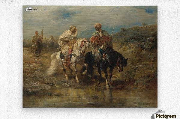 Arab horsemen raiding  Metal print