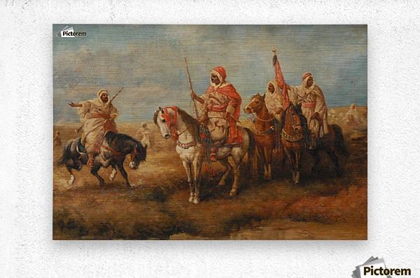 Bedouins on Horseback  Metal print