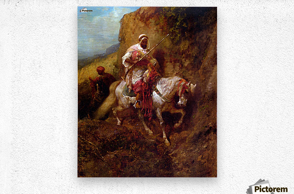 Arab warrior  Metal print