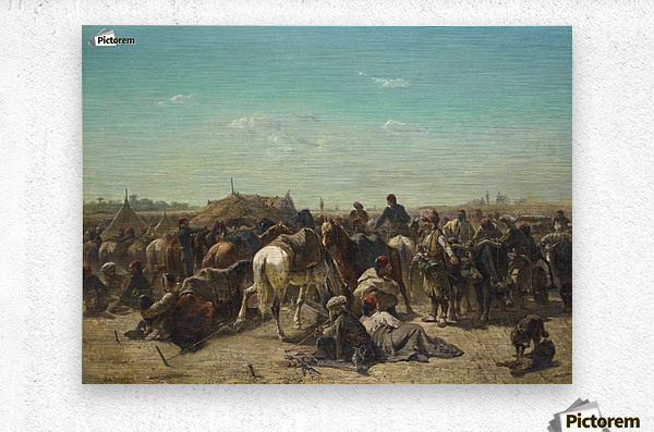 An Ottoman encampment  Metal print