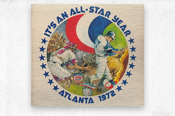 its an all star year atlanta 1972 baseball art  Metal print