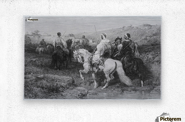 Arabs on the March  Metal print