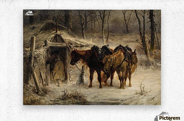 Resting horses  Metal print